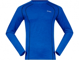 Bergans Fjellrapp Merino Wool Base Layer Shirt Dk RoyalBlue/Navy