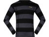 Мъжка термо блуза Bergans Fjellrapp Shirt Solid Charcoal/Black Striped/Waxed