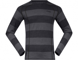 Bergans Fjellrapp Merino Wool Base Layer Shirt Solid Charcoal 2019