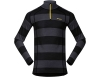 Мъжка термо блуза Bergans Fjellrapp Half Zip Solid Charcoal/l/Black Striped/Waxed