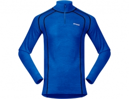 Bergans Fjellrapp Merino Wool Base Layer Half Zip Dk RoyalBlue/Navy