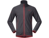 Мъжко поларено яке Bergans Lovund Fleece Jacket Solid Dark Grey Fire Red 2019