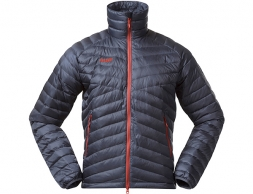 Мъжко пухено яке Bergans Pyttegga Down Jacket Fire Red Solid Dark Grey / Lava