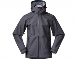 Мъжко хардшел яке Bergans Ramberg 3-Layer Solid Dark Grey Fire Red 2019
