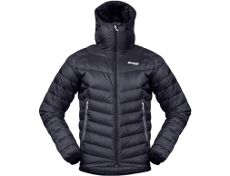 Мъжко пухено яке Bergans Slingsby Down Light w/Hood Black/Solid Dark Grey