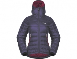 Дамско пухено яке Bergans Slingsby Down Light W w/Hood Purple Velvet/Beet Red