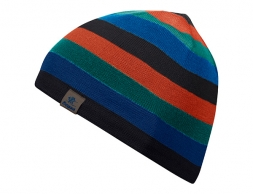 Bergans Frost Kids Wool Beanie Solid Charcoal/Bright Magma/Greenlake