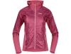 Дамско хибридно яке с изолация Bergans Cecilie Light Insulated Hybrid Jacket Dark Creamy Rouge 2021