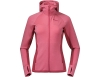 Дамско вълнено яке Bergans Cecilie Wool Hood Jacket Light Creamy Rouge 2021