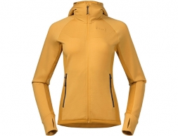 Дамско вълнено яке Bergans Cecilie Wool Hood Jacket Lt Golden Yellow 2021