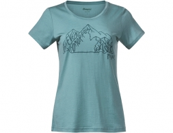Bergans Graphic Wool W Tee Light Forest Frost 2021