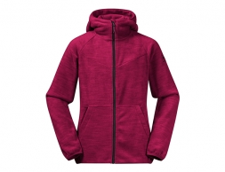 Детско поларено яке Bergans Hareid Youth Girl Jacket Beet Red 2021