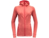 Devold Aksla Woman Merino Wool Jacket w/Hood Poppy 2021
