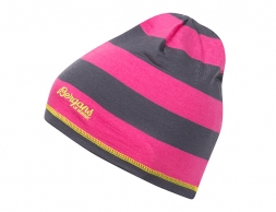 Детска мерино шапка Bergans Youth Beanie Hot Pink