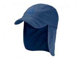 Детска туристическа шапка Jack Wolfskin Supplex Canyon Cap Kids Ocean Wave