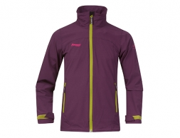 Детско Softshell яке за момичета Bergans Kleivi Youth Girl Jacket Plum