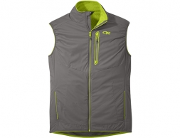 Мъжки поларен елек Outdoor Research Ascendant Vest Pewter Lemongrass