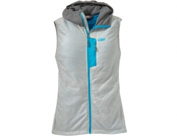 Outdoor Research Women's Deviator Hooded Vest Alloy Pewter