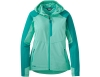 Дамско софтшел яке Outdoor Research Ferrosi Hooded Jacket Tahiti Sea