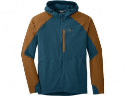 Мъжко софтшел яке Outdoor Research Ferrosi Hooded Jacket Peacock Saddle