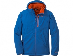 Outdoor Research Ascendant Hoody Softshell Jacket Cobalt Burnt Orange