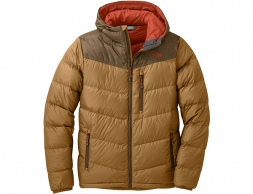 Мъжко пухено яке Outdoor Research Transcendent Down Hoody Ochre Carob