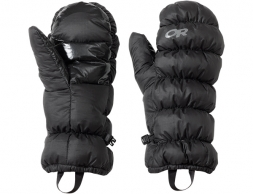 Пухени ръкавици лапи Outdoor Research Transcendent Mitts Black
