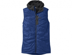 Мъжки поларен елек с качулка Outdoor Research Deviator Hooded Vest Baltic / Charcoal 2020