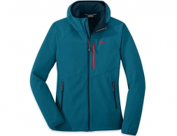 Дамско софтшел яке с изолация Outdoor Research Ferrosi Grid Hooded Jacket Celestial Blue