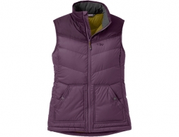 Дамски пухен елек Outdoor Research Transcendent Down Vest Vintage Violet 2021