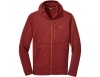 Мъжко поларено яке с качулка Outdoor Research Vigor Full Zip Hoodie Madder 2021