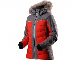 Trimm Cortina Lady Ski Insulated Jacket Red Grey Melange