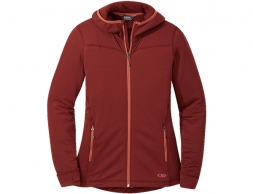 Дамско поларено яке с качулка Outdoor Research Vigor Full Zip Hoodie Madder 2021