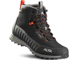 ALFA Kvist Advance GTX M Hiking Boots Black Orange