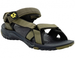 Jack Wolfskin Lakewood Ride Sandals Men Flashing Green